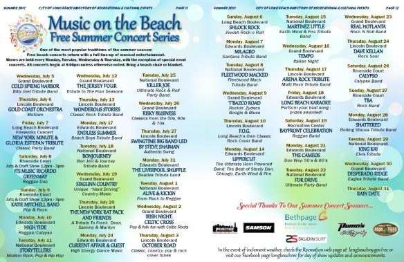 LB Summer Concert Series 2017
